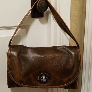 Marc jacobs brown leather distressed bag/purse